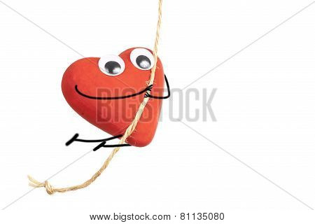 Heart Character Jumping