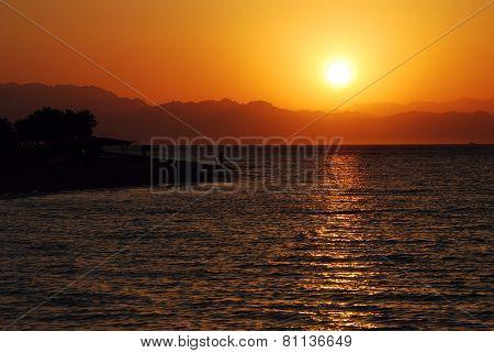 Sunrise On The Sea Right