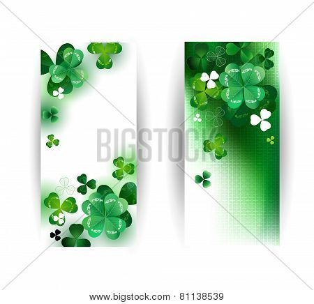 Banners With Green Shamrock