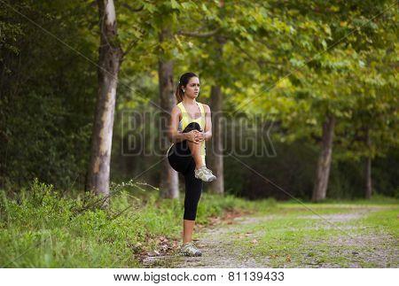 Woman exercising in outdoor