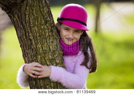 Child loving nature