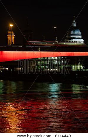London Bridge Illuminated At Night