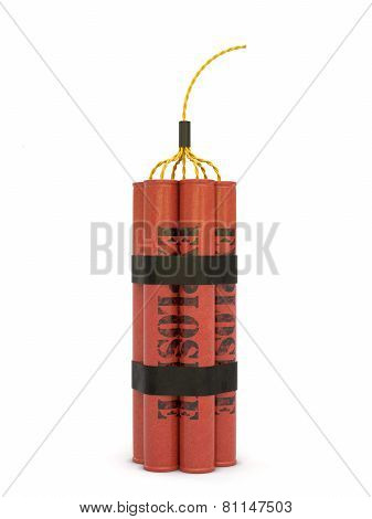 Dynamite Bomb Isolated On White Background
