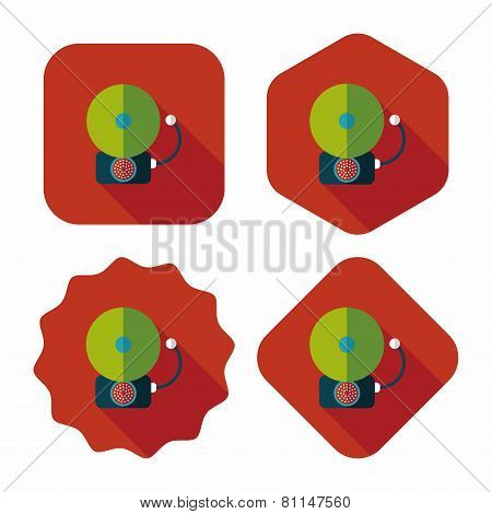 Alarm Bell Flat Icon With Long Shadow, eps10