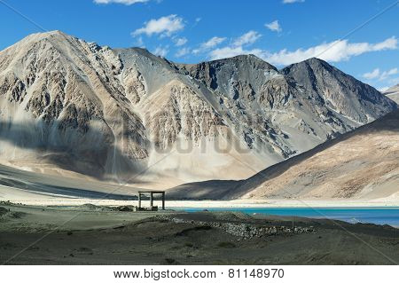 Mountains,pangong Tso (lake),leh,ladakh,jammu And Kashmir,india