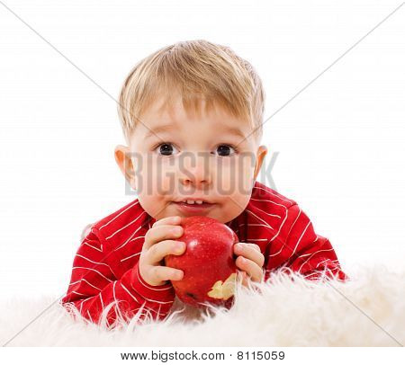 Boy Eating Apple