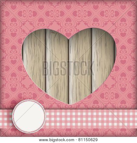 Heart Hole Ornaments Wood