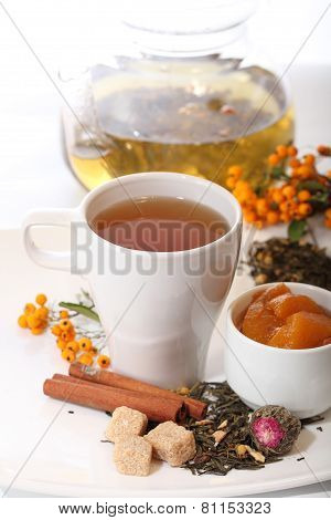 Fruit Tea With A Mountain Ash And Cinnamon