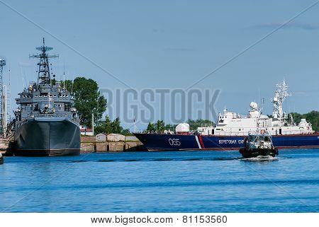 Russian Coast Guard patrol boats in Baltiysk
