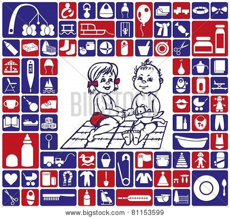 Icons Baby Items