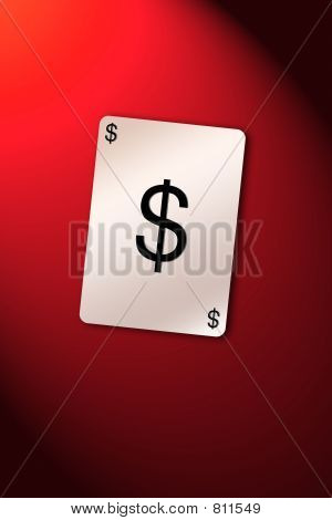 Playing card dollar