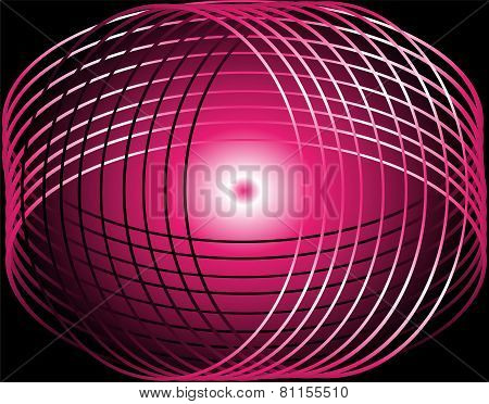 Abstract background with pink circles