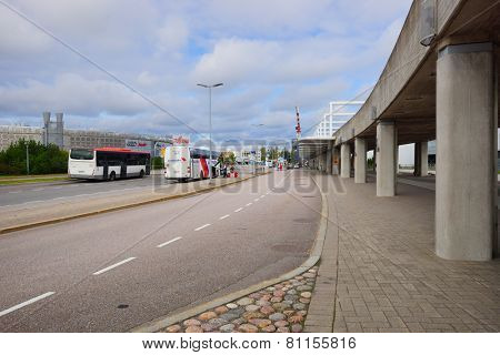 HELSINKI - SEP 03: area near Airport on September 03, 2014 in Helsinki, Finland. Helsinki Airport  is the main international airport of the Helsinki metropolitan region and the whole of Finland