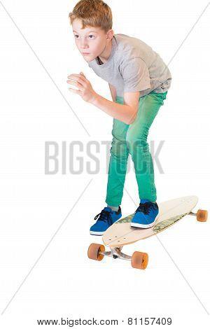 Child on his skateboard Longboard
