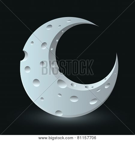 Vector moon illustration