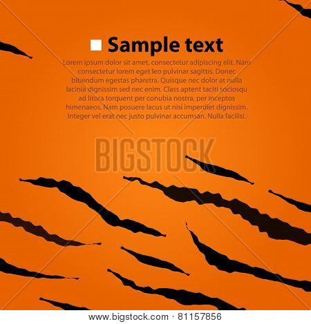 Tiger skin vector pattern.