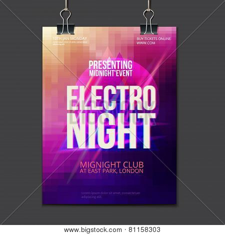 Abstract  Brochure design vector template club flyer