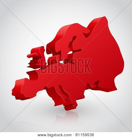 Vector illustration of europe continent