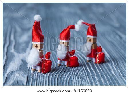Santa Clothespins