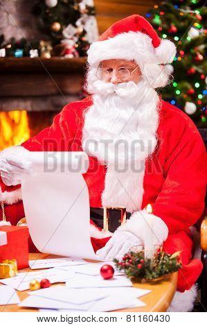 Checking His Christmas List.