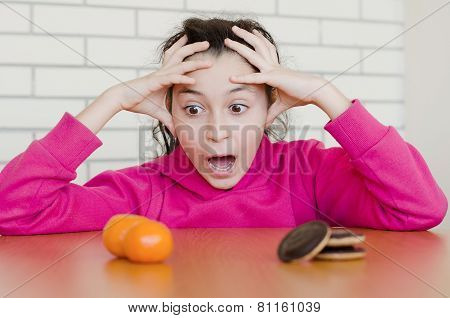Young girl screaming - making a right decision