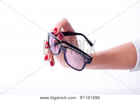 Woman Hands Holding Glasses