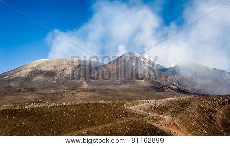 Mount Enta volcano peaks