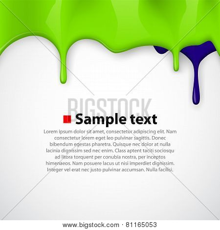 Colorful paint dripping background.