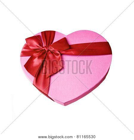 Heart Shaped Pink Gift Box