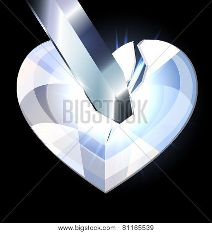 ice heart-crystal and blade