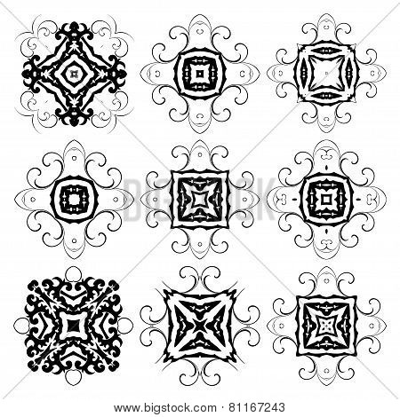 Set Of Round Ornaments