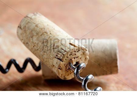 Two Corkscrew With Wine Corks