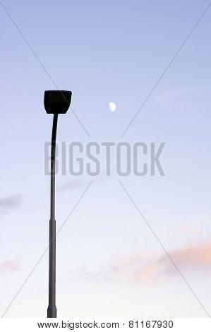 Lantern and moon