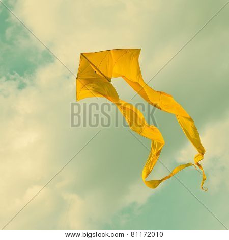 Yellow Kite in the sky