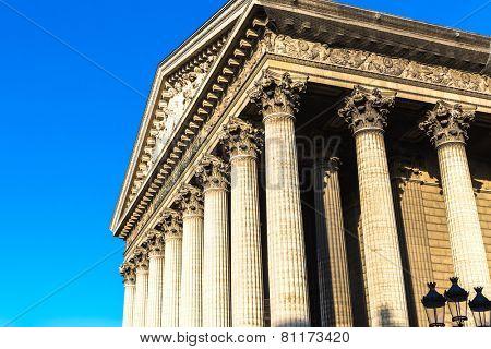 La Madeleine Church in Paris, France