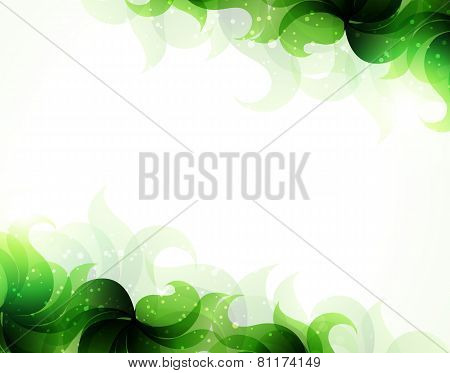Green Petals Background