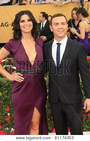 LOS ANGELES - JAN 25:  Beth Dover, Joe Lo Truglio at the 2015 Screen Actor Guild Awards at the Shrine Auditorium on January 25, 2015 in Los Angeles, CA