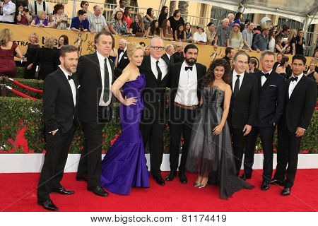 LOS ANGELES - JAN 25:  Homeland Cast members at the 2015 Screen Actor Guild Awards at the Shrine Auditorium on January 25, 2015 in Los Angeles, CA