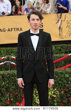 LOS ANGELES - JAN 25:  Matthew Beard at the 2015 Screen Actor Guild Awards at the Shrine Auditorium on January 25, 2015 in Los Angeles, CA