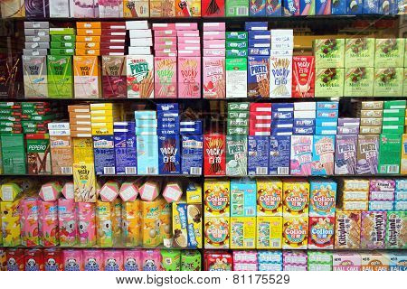 Asian Supermarket Window Display
