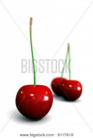 Cherry Isolated On White