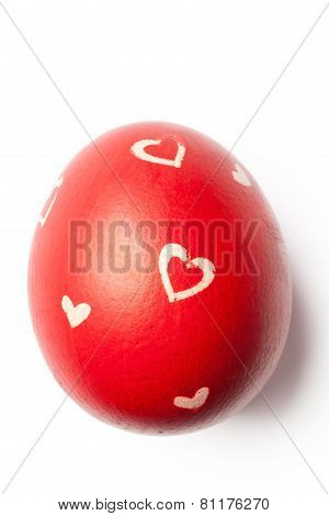 Red Easter Egg With Clipping Path