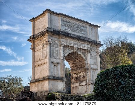 Arch Of Titus, Forum Romanum, Rome, Italy