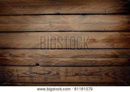 Wood Background With Horizontal Planks