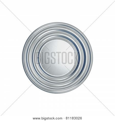 Tin Can On White Background View From The Top