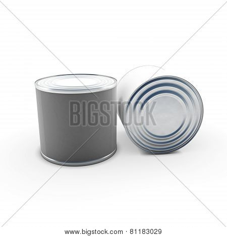 Tin Cans On White