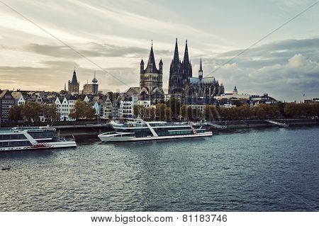 Cologne Skyline Cologne Cathedral