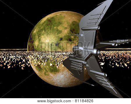 Spaceship in a distant world