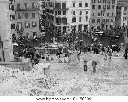 Piazza Di Spagna, Rainy Day