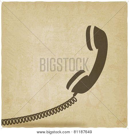 handset symbol old background